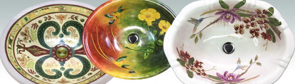 американские раковины с цветочным декором рисунком в Испании